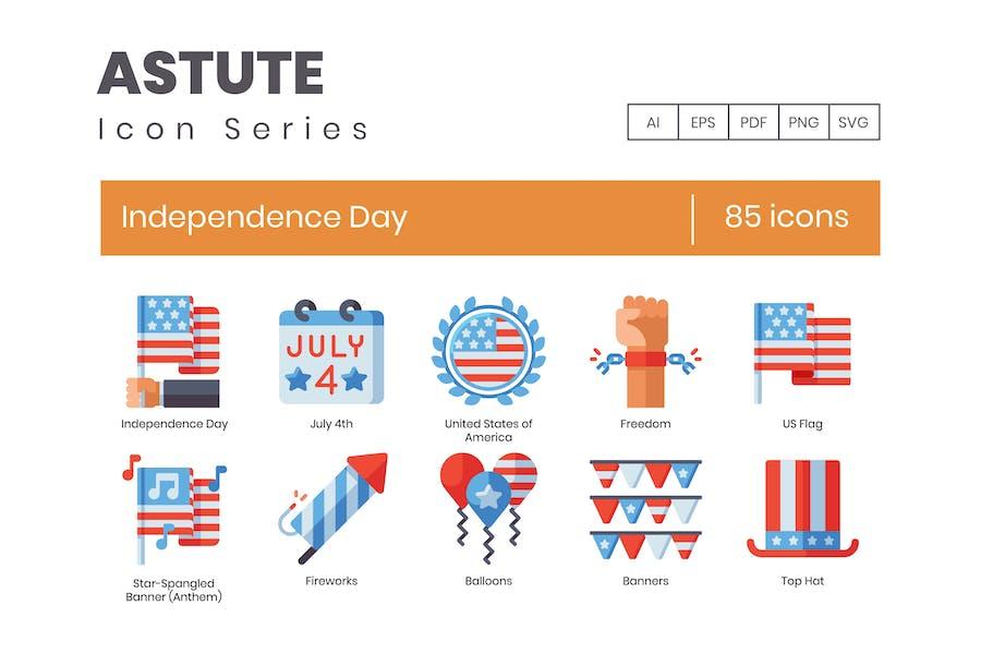 Icons vom 4. Juli