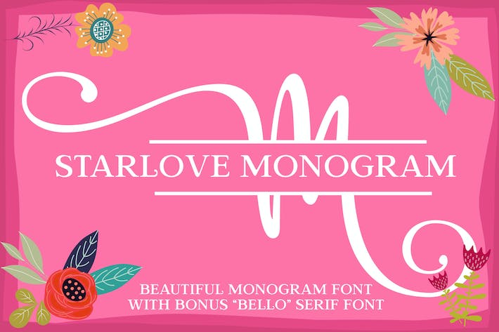 Cover Image For Starlove Monogram Font
