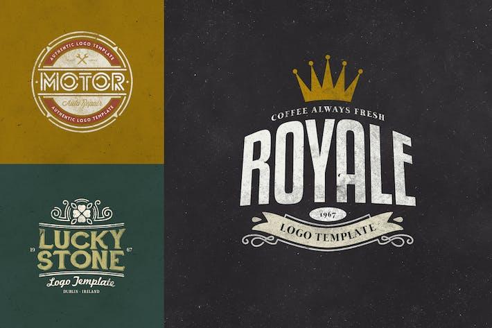 Thumbnail for Retro Logo Templates V.01