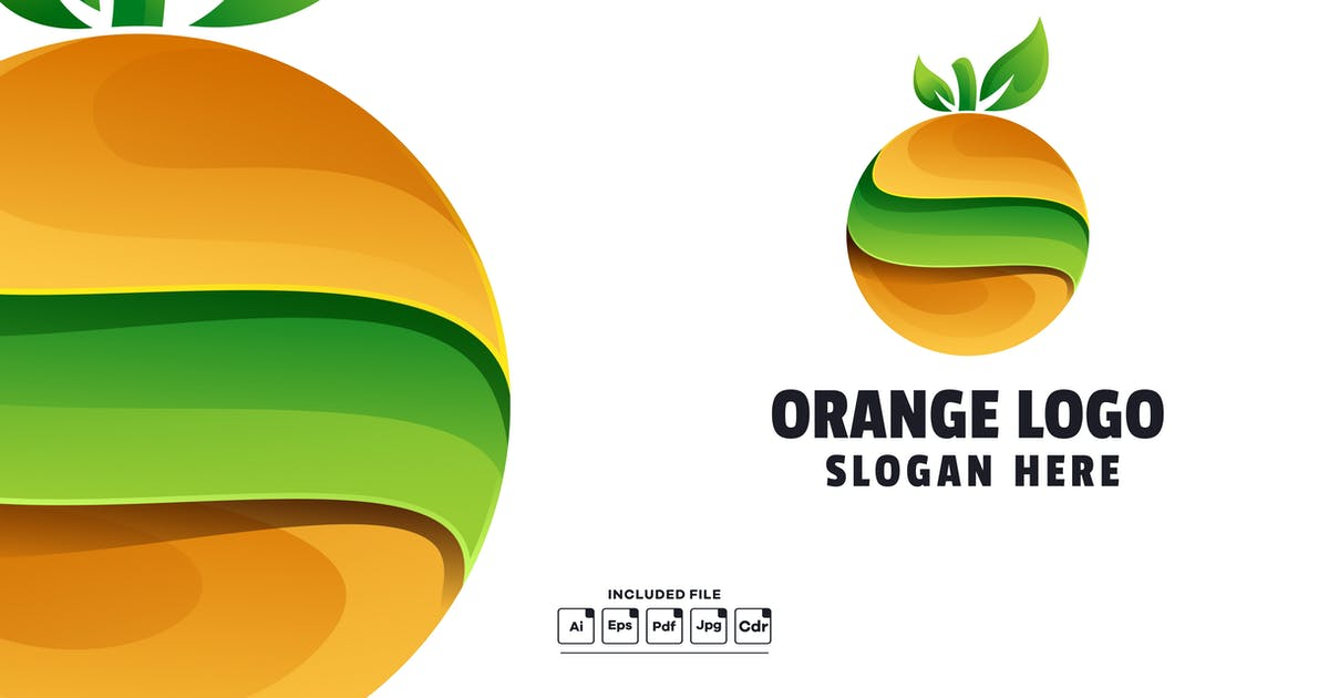 Download Abstract Orange Gradient Logo Template by yuanesei
