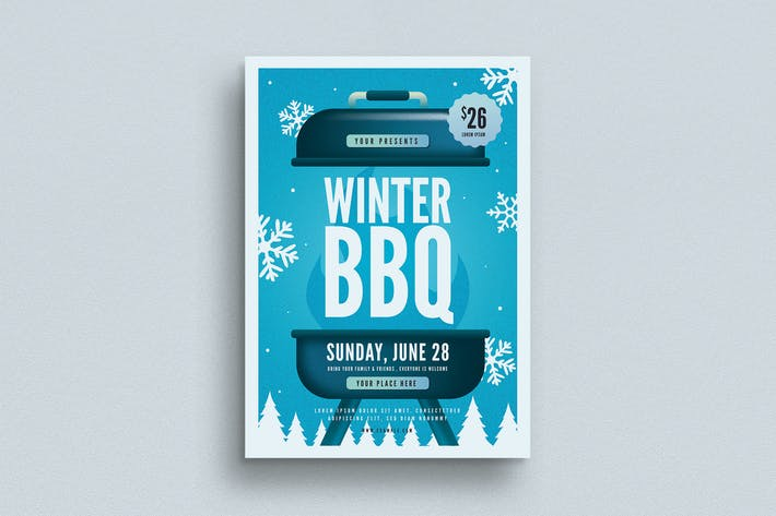 Thumbnail for Winter BBQ Event Flyer