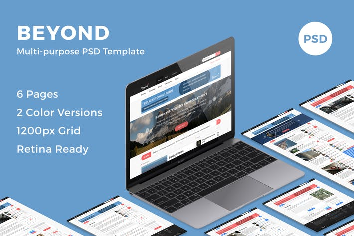 Thumbnail for Beyond - Multi-purpose PSD Template