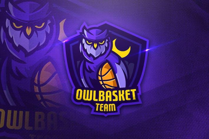Thumbnail for Owl basket Team - Mascot & Esport Logo