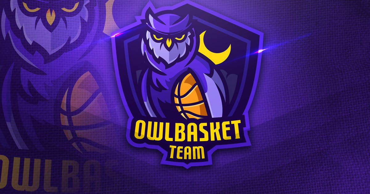 Download Owl basket Team - Mascot & Esport Logo by aqrstudio