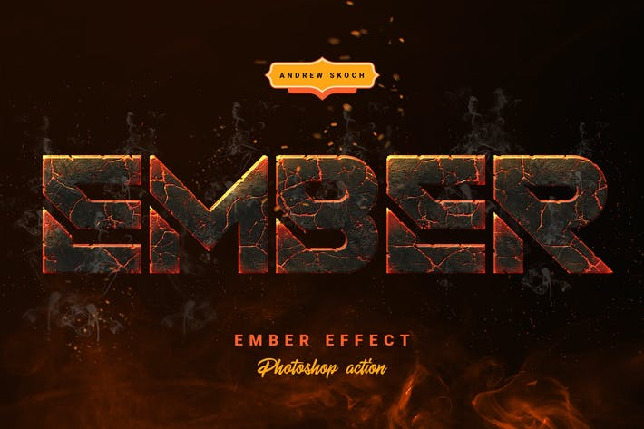 Thumbnail for Effet Ember - Photoshop Action