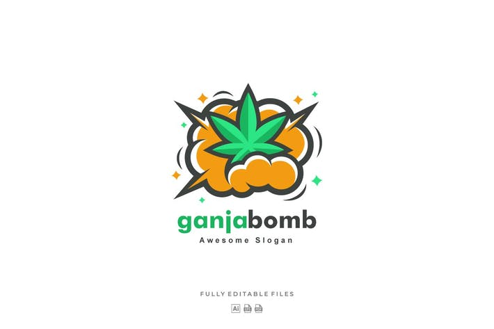 Ganja Bomb Color Logo