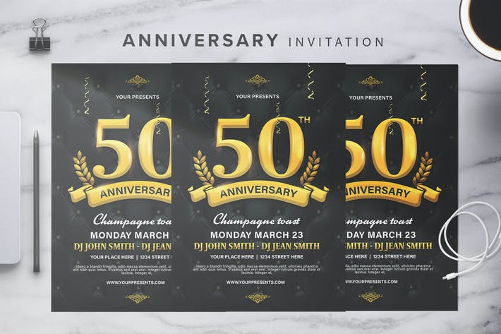 Cover Image For Anniversary Invitation