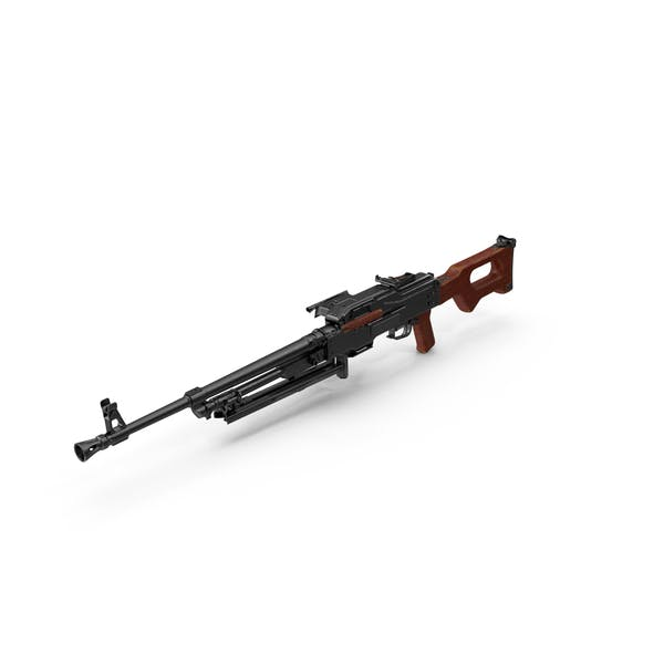 Machine Gun PKM Aimed