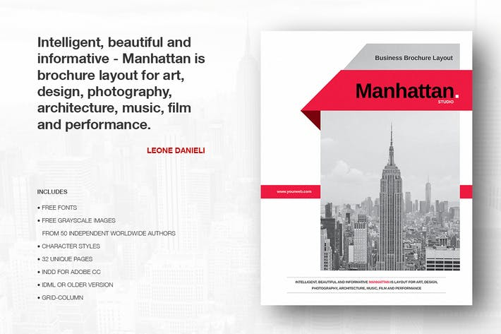 Cover Image For Manhattan Business Brochure