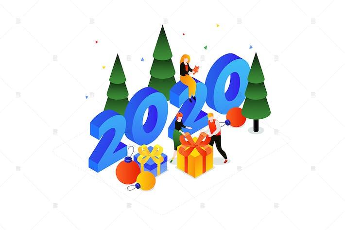 Thumbnail for Christmas holiday - isometric illustration