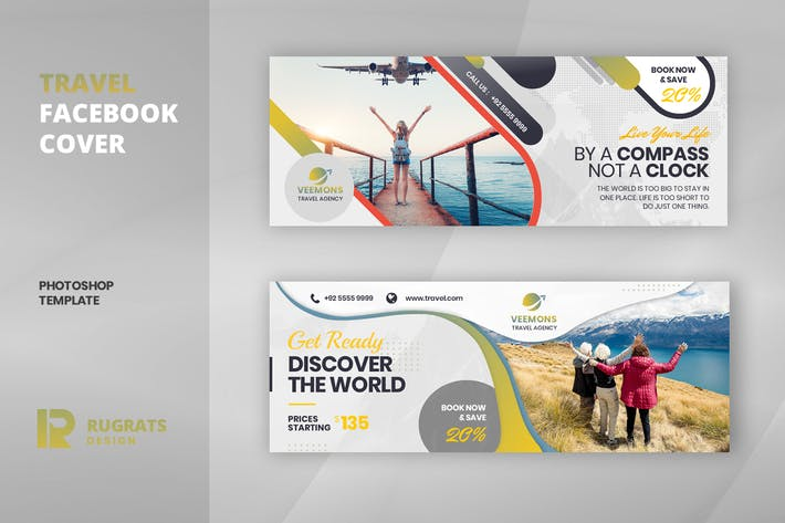 Thumbnail for Travel R1 Facebook Cover Template