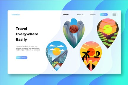 Travel Destination - Banner and Landing Page