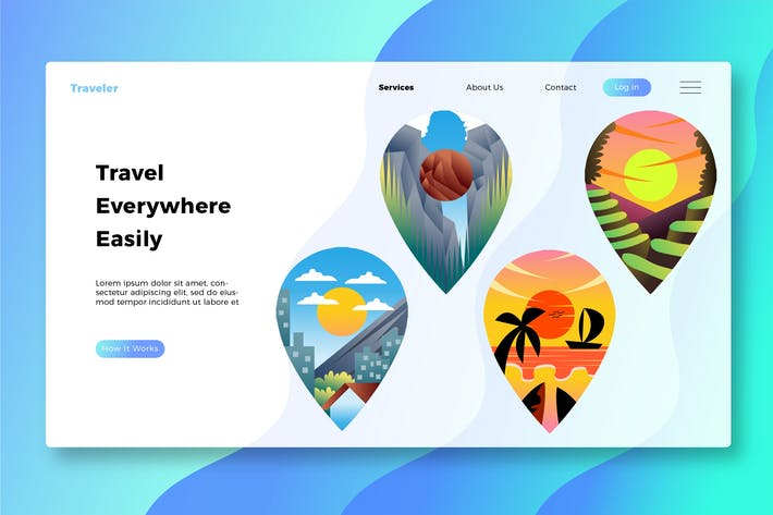 Thumbnail for Travel Destination - Banner and Landing Page