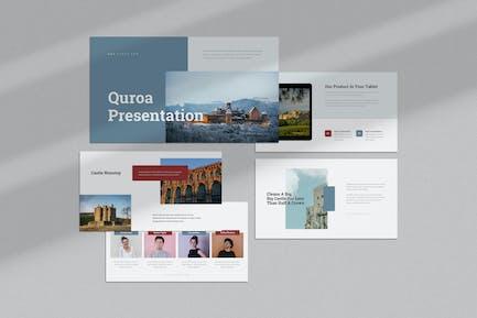 Quroa : Castle Theme Google Slides