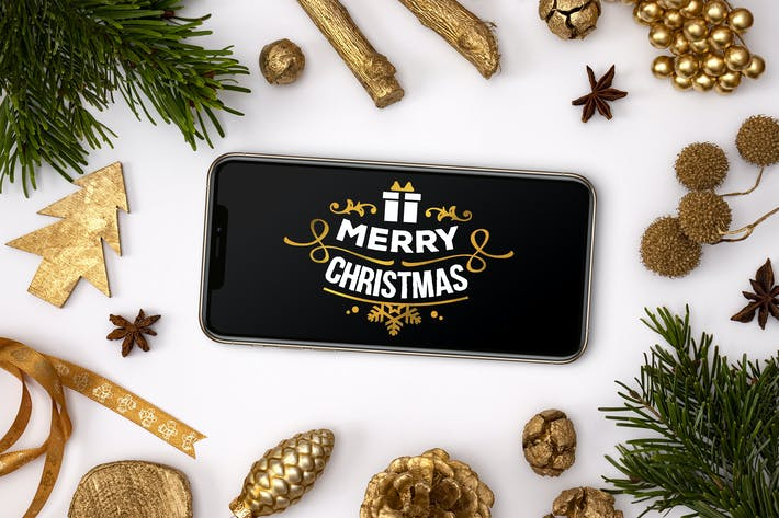 Thumbnail for Christmas phone mockup