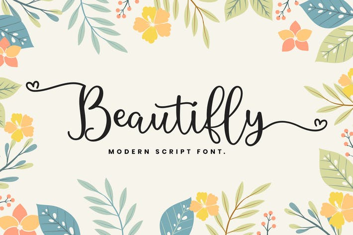 Thumbnail for Beautifly Bold and Bouncy Handwritten Script Font