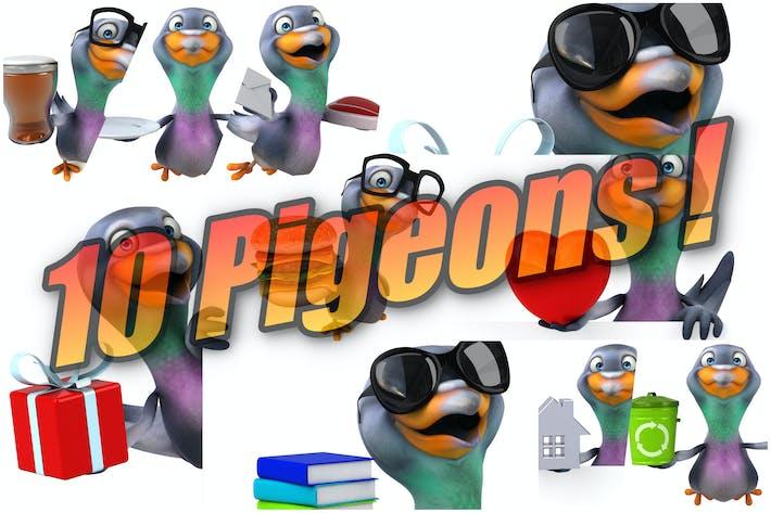 Thumbnail for 10 fun Pigeons !