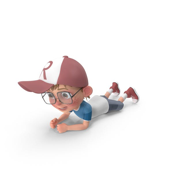Cartoon Boy Crawling