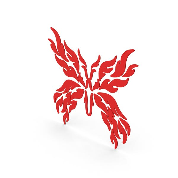 Butterfly Decal Red