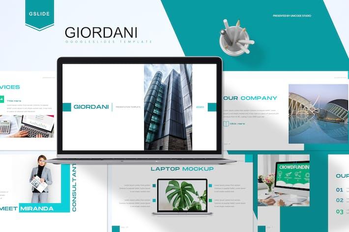 Thumbnail for Джордани - Бизнес Google Слайды Шаблон