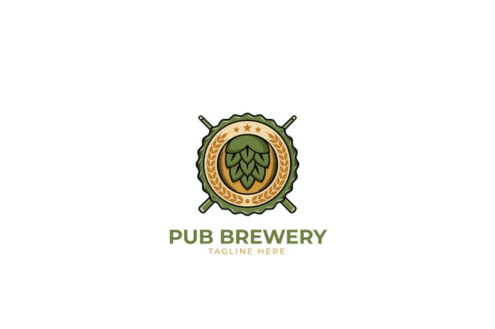 Thumbnail for Pub Brewery Logo Template