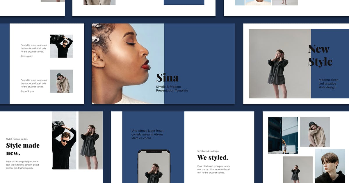 Download SINA - Keynote Style Template by Pixasquare