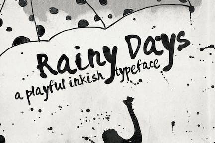 Rainy Days - un tipo de letra juguetón