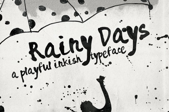 Thumbnail for Rainy Days - a Playful typeface