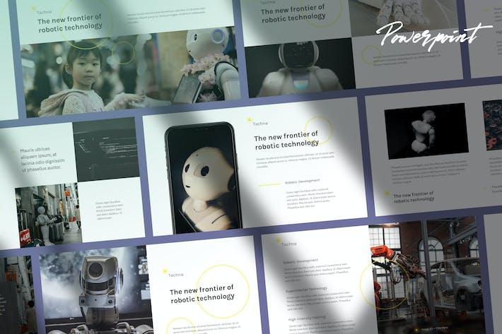 Thumbnail for Techna - Технологии и Наука Powerpoint Шаблон