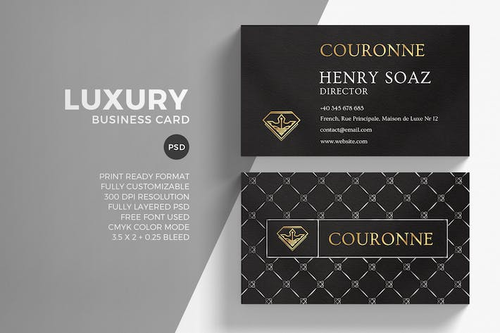 Luxury golden business card template by eightonesixstudios on envato cover image for luxury golden business card template reheart Image collections