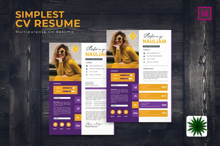 Thumbnail for Simplest CV Resume Template