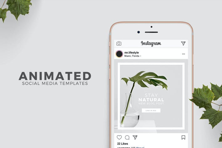 Thumbnail for Animated Social Media Templates for Photoshop