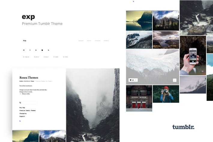 Thumbnail for Exp - Minimalist Portfolio Tumblr Theme