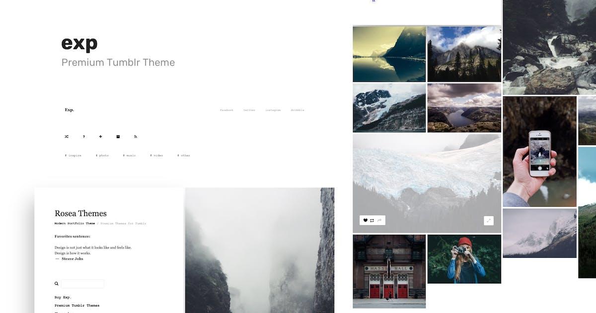 Download Exp - Minimalist Portfolio Tumblr Theme by roseathemes