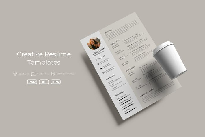 Thumbnail for ADL Resume Template v.03