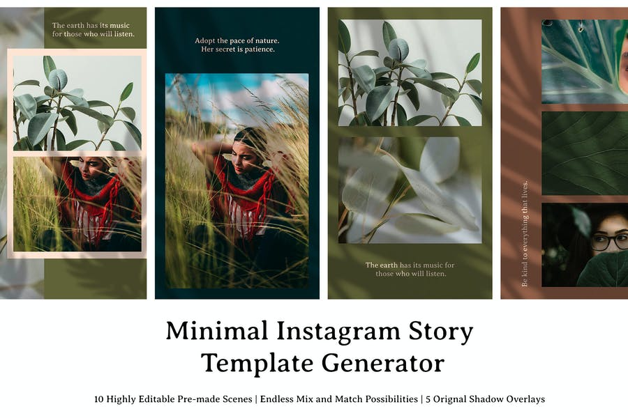 Minimal Instagram Story Template Generator