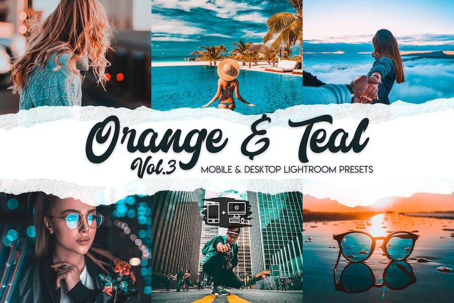Orange & Teal Lightroom Presets Vol. 3
