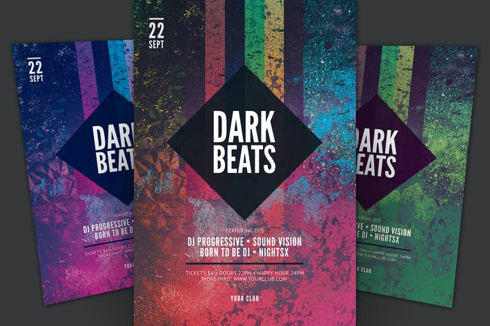 Cover Image For Dark Beats Flyer