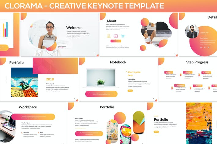 Thumbnail for Clorama - Creative Keynote Template