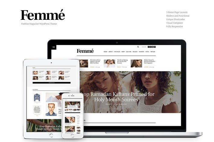 Thumbnail for Femme - Online Magazine & Fashion Blog WP Theme