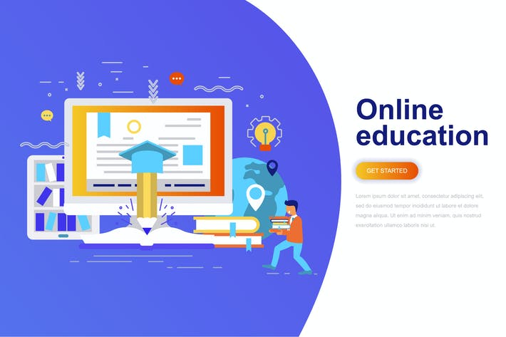 Thumbnail for Online Education Modern Flat Concept