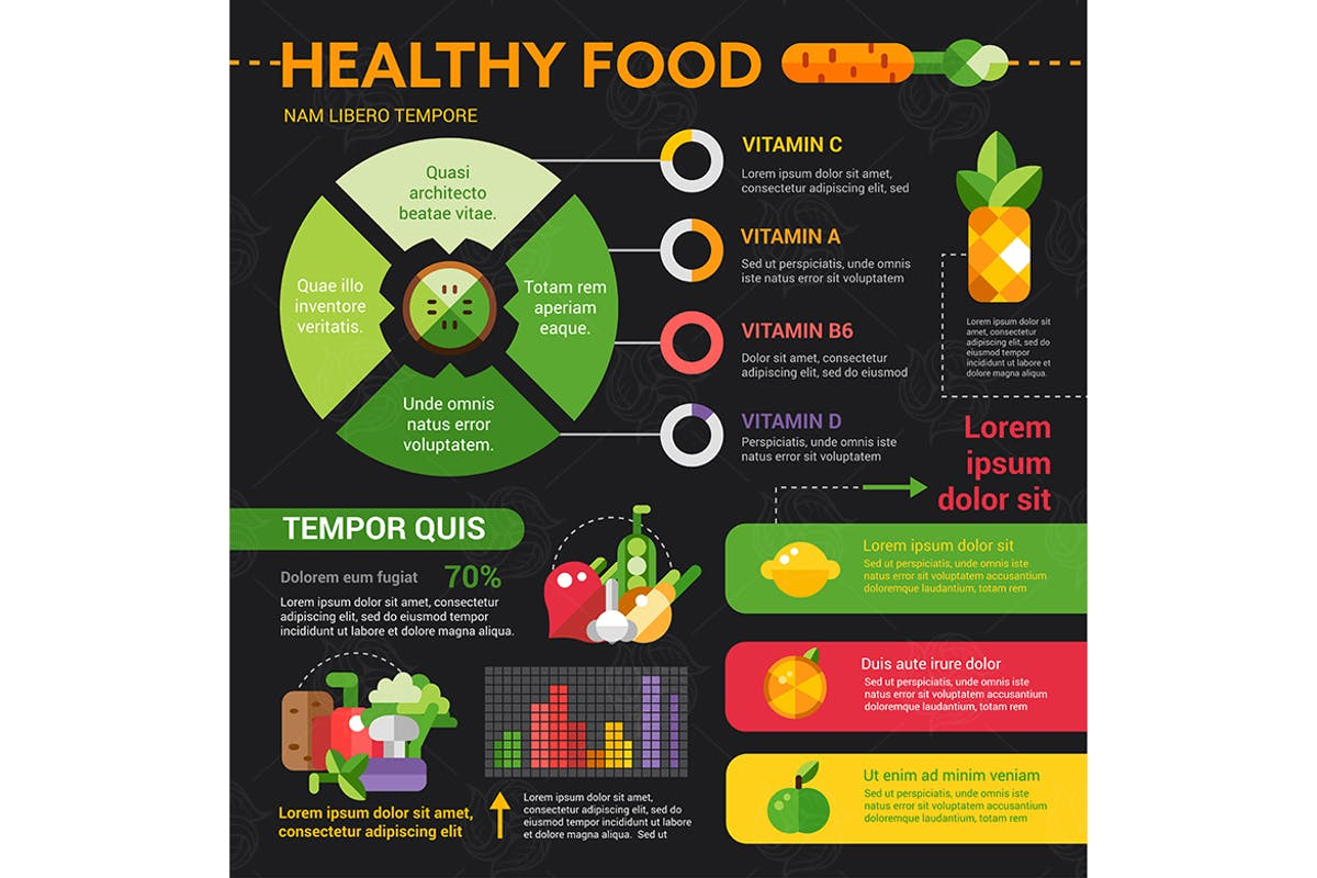 Download Healthy Food - poster, brochure cover template by BoykoPictures by Unknow