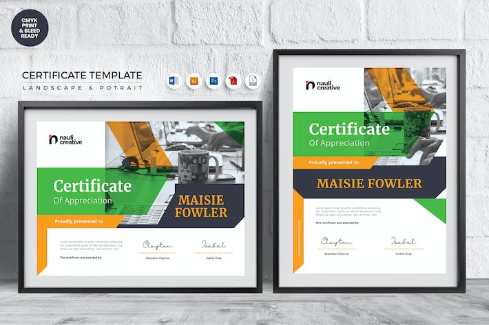 Thumbnail for Professional Certificate Template Vol.15