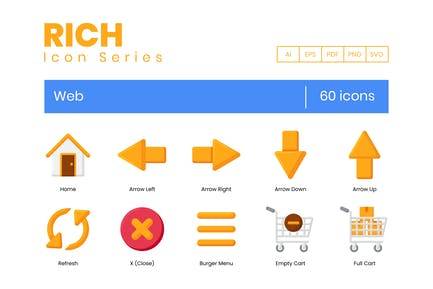 60 Web-Icons - Rich-Serie