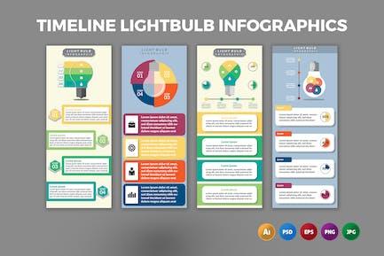Timeline Lightbulb – Infographics Design