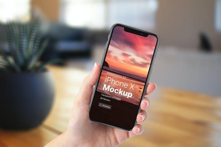 Thumbnail for Kit de présentation - iPhone vitrine Mockup