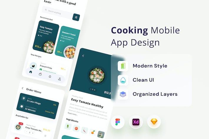 Conception de Appli de cuisine