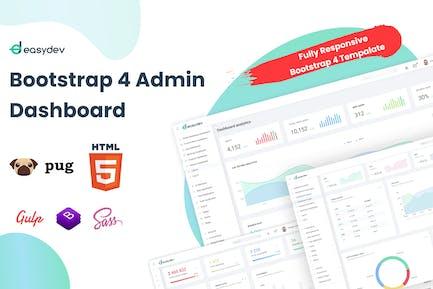 EasyDev — HTML (мопс) Администратор и шаблон панели мониторинга