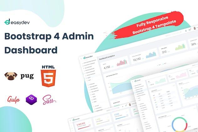 EasyDev — HTML(Pug) Admin & Dashboard Template