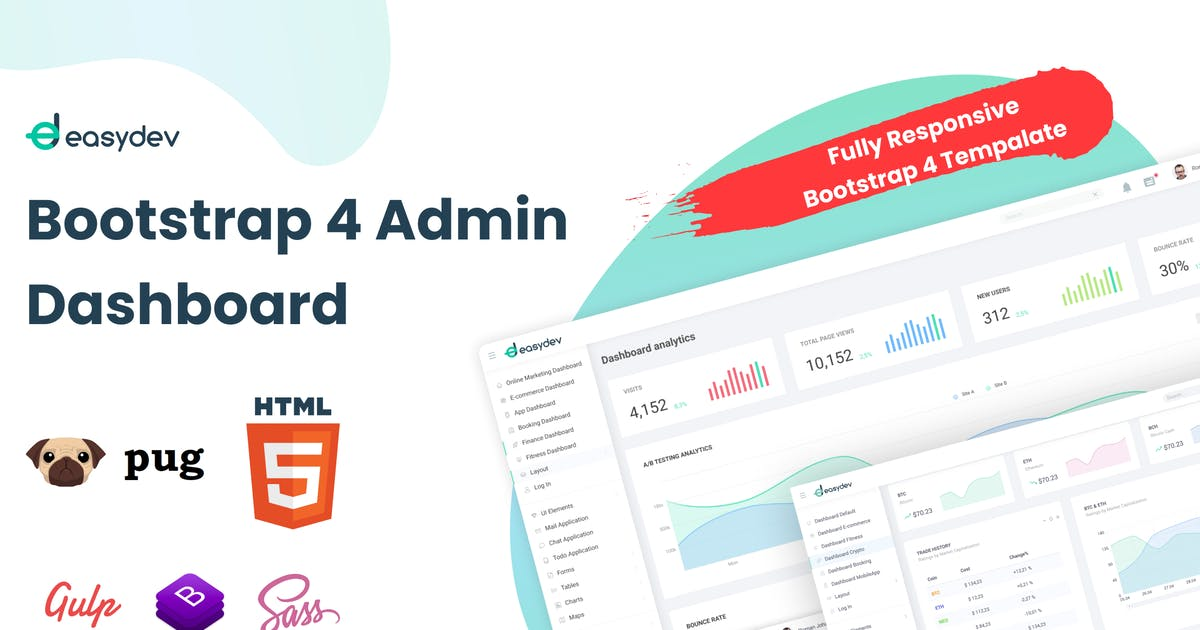 Download EasyDev — HTML(Pug) Admin & Dashboard Template by Aspirity